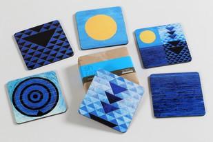 S.H. Raza Coaster Blue (Set of Six) Coaster Set By Vadehra Bookstore