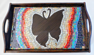 BUTTERFLY TRAY LARGE Tray By Vandeep Kalra