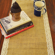 Thl jute with lace table runner