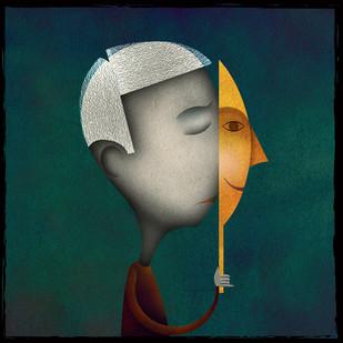 False Emotions by Suvarna Sohoni, Digital Digital Art, Digital Print on Canvas, Green color