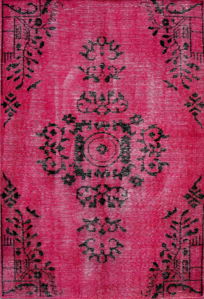 Imperial Knots Pink Vintage Handknotted Carpet Carpet and Rug By Imperial Knots