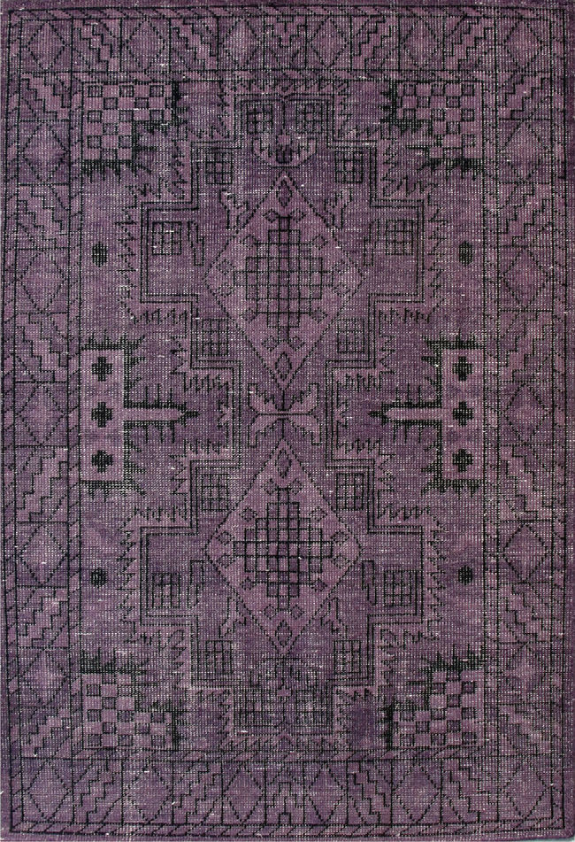 Imperial Knots Purple Vintage Handknotted Carpet Carpet and Rug By Imperial Knots