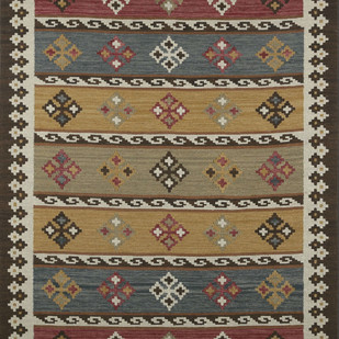 Imperial Knots Multicolor Handwoven Vintage Kilim Carpet and Rug By Imperial Knots
