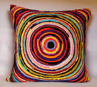 Chakri   multicolor    cushion cover  20 x 20