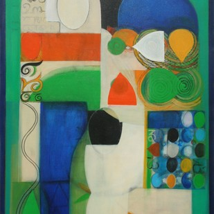 Untitled by Gopinath P, Abstract Painting, Acrylic on Canvas, Green color