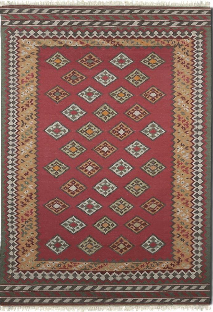 Imperial Knots Multicolor Handwoven Turkish Kilim