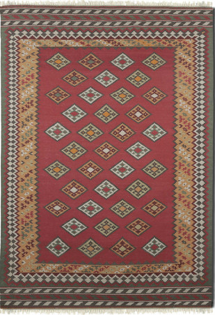 Imperial Knots Multicolor Handwoven Turkish Kilim Carpet and Rug By Imperial Knots