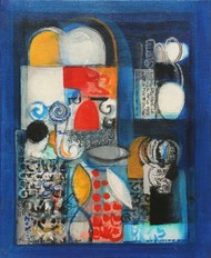 Untitled by Gopinath P, Abstract Painting, Acrylic on Canvas, Blue color
