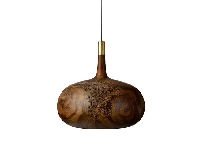 Chappa & Chippa Hanging lamp medium Artifact By Arpan Patel for Studio Kassa