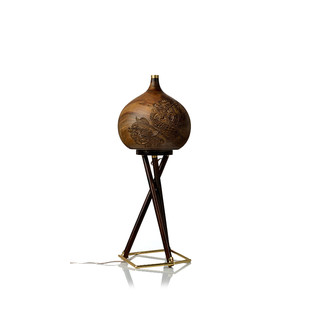 Chappa & Chippa Table lamp small Artifact By Arpan Patel for Studio Kassa