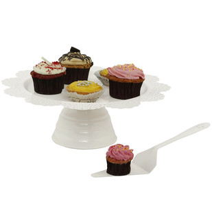 Elan Scallop Cake Stand with Server Serveware By living-with-elan