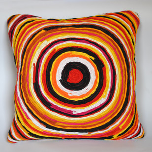 Katran Cushion : Yellow Cushion Cover By Sahil & Sarthak