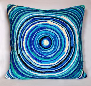 Katran Cushion : Blue (with filler) Cushion By Sahil & Sarthak