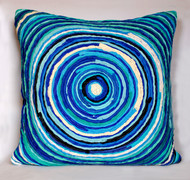 Chakri   blue     cushion cover  18 x 18