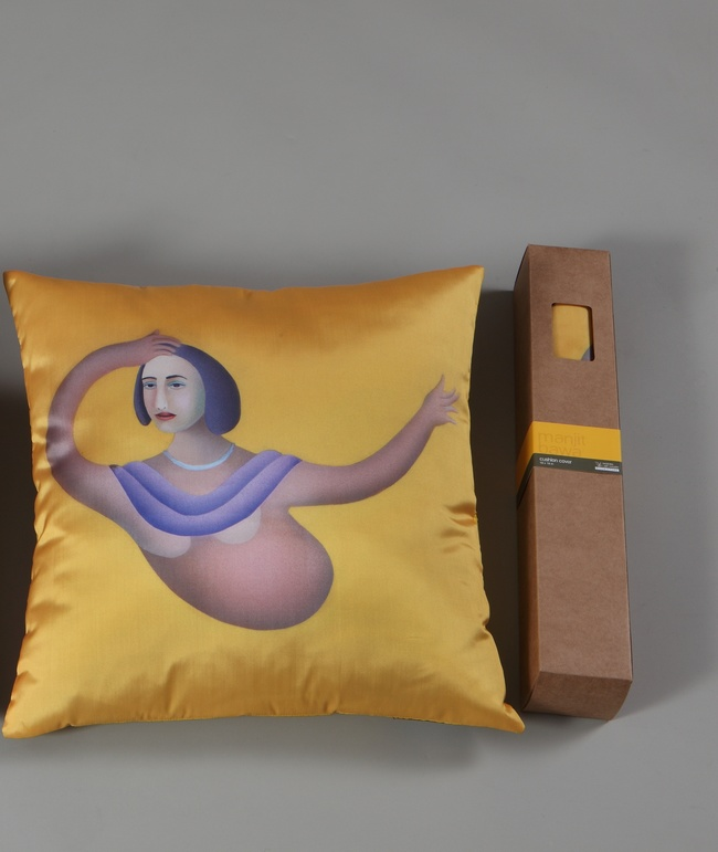 Manjit Bawa Cushion Cushion Cover By Vadehra Bookstore