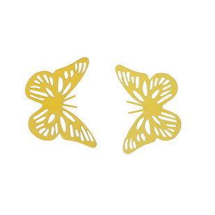 ELAN BUTTERFLY MAGNET SMALL-SET OF 2-YELLOW Accessories By living-with-elan