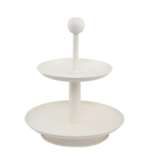 ELAN TWO TIER STAND - KNOB-IVORY WITH IVORY Serveware By living-with-elan