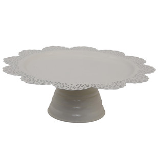 ELAN SCALLOP CAKE STAND-IVORY Serveware By living-with-elan