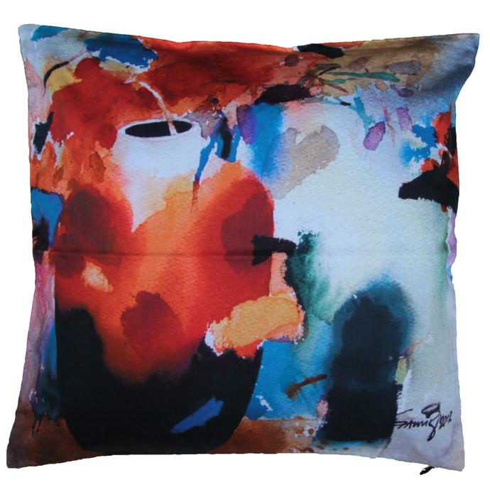 Samir Mondal Cushion Cover1 Cushion Cover By indian-colours