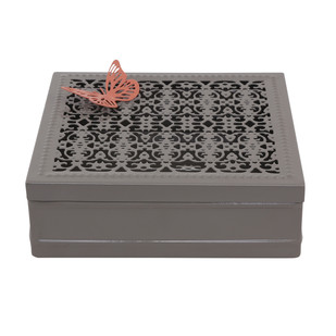 ELAN CHANTILLY GIFT BOX-TAUPE6C Decorative Box By living-with-elan