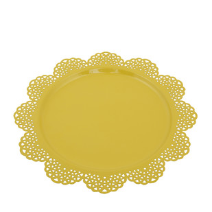 ELAN SCALLOP PLATTER-PALE YELLOW Platter and Plate By living-with-elan