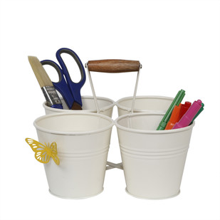 ELAN FOUR BUCKET CADDY-IVORY Stationery By living-with-elan