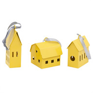 ELAN HAPPY HOMES SET OF 3-YELLOW GLOSSY115C Accessories By living-with-elan