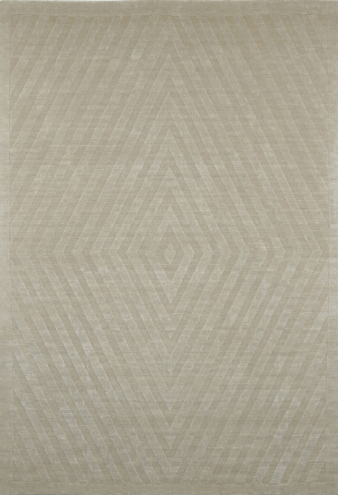 Imperial Knots Beige Diamond Handloom Carpet Carpet and Rug By Imperial Knots