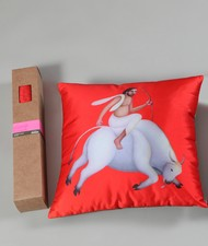 Manjit Bawa Cushion Cushion Cover By Vadehra Bookstore