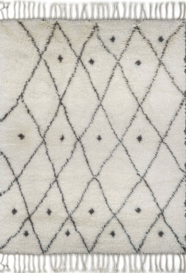 Imperial Knots Ivory Morroccan Handknotted Carpet Carpet and Rug By Imperial Knots