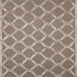 Imperial Knots Beige Brown Links Handtufted Carpet Carpet and Rug By Imperial Knots