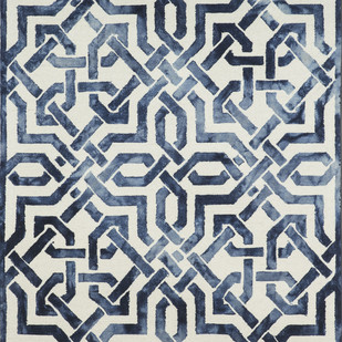 Imperial Knots Blue Ivory Dip Dyed Handtufted Carpet Carpet and Rug By Imperial Knots