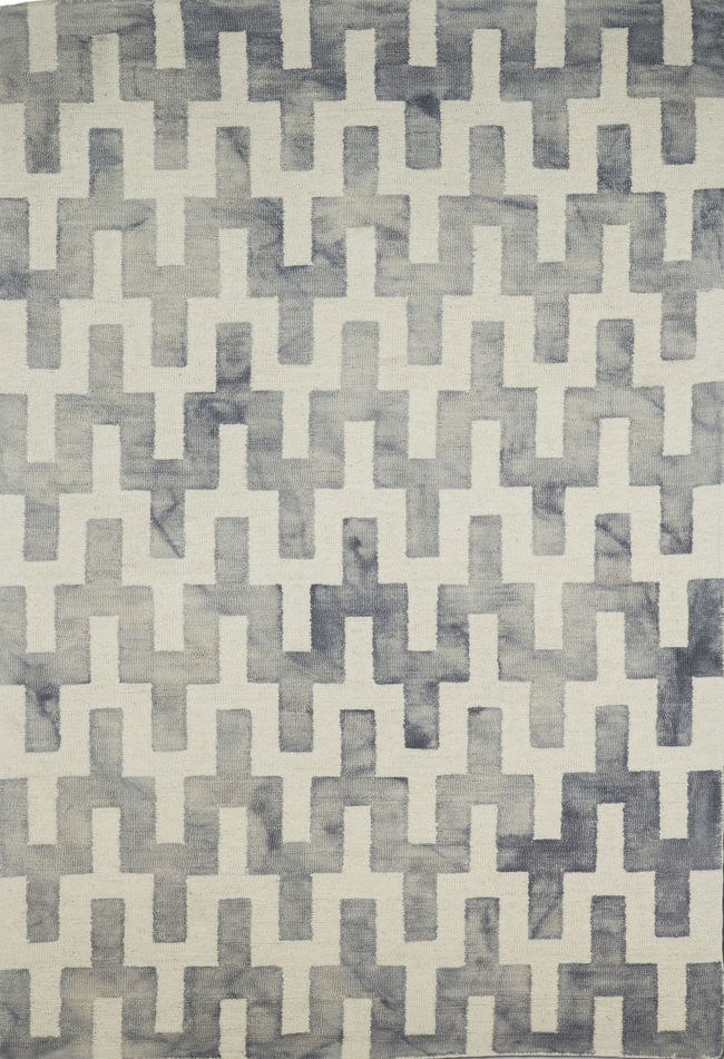 Imperial Knots Grey Ivory Dip Dyed Handtufted Carpet Carpet and Rug By Imperial Knots