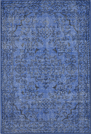Imperial Knots Blue Vintage Handknotted Carpet Carpet and Rug By Imperial Knots