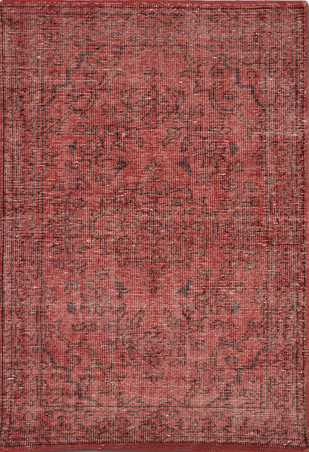 Imperial Knots Red Vintage Handknotted carpet by Imperial Knots, Traditional Carpet and Rug, Wool, Brown color