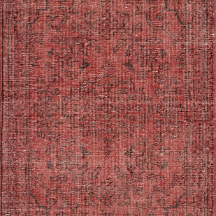 Imperial Knots Red Vintage Handknotted carpet Carpet and Rug By Imperial Knots