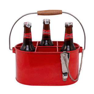 ELAN ECLIPSE SIX BOTTLE CADDY-PO RED Table Ware By living-with-elan