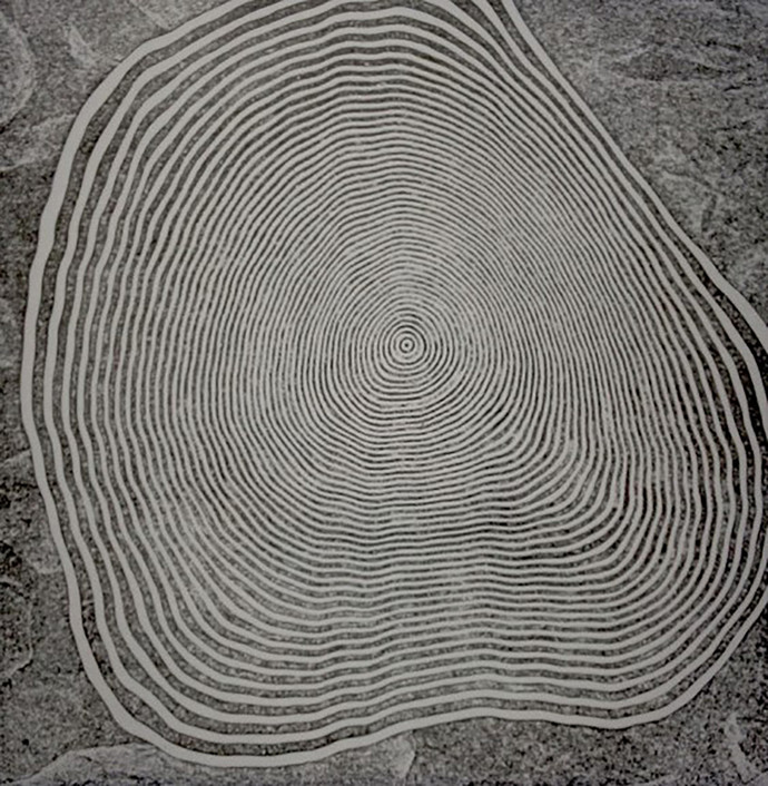 Change by Yuvan Bothi Sathuvar, Op Art Printmaking, Mixed Media on Board, Gray color