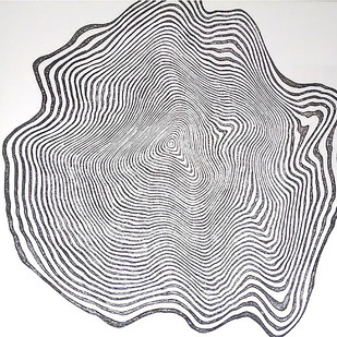Change by Yuvan Bothi Sathuvar, Op Art Printmaking, Mixed Media on Board, Gray color