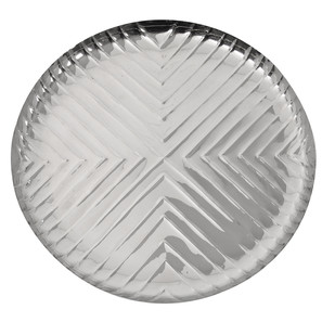 Chevron Round Plate Table Ware By Mudita Mull