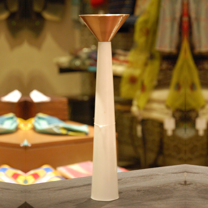 Cu Stone Candlestand L-W Candle Stand By AnanTaya