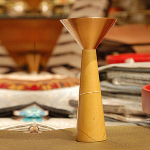 Cu Stone Candlestand S-Y Candle Stand By AnanTaya
