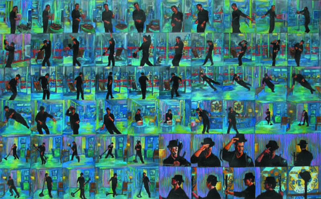 And I Want To Dance Don't Stop Me… by Ravi Sachula, Pop Art Painting, Acrylic on Canvas, Green color
