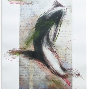 Drawing 1 by Dibyendu Bhadra, Impressionism Drawing, Dry Pastel on Paper, Gray color