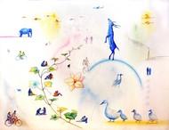 Sky's The Limit Digital Print by rawindra kumar das,Fantasy