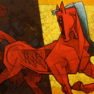 Into The Light Traverse 2 by Dinkar Jadhav, Decorative Painting, Acrylic on Canvas, Brown color