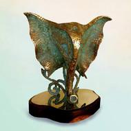 Ganesha by Dinesh Singh, Art Deco Sculpture | 3D, Brass, Beige color