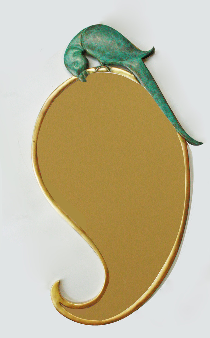 Hungry parrot & Mango mirror Wall Decor By Cobalt Designs