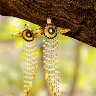 Born for 'Bold & Enamel' #Dangle with each step# by Tanvi Garg, Art Jewellery, Traditional Earring