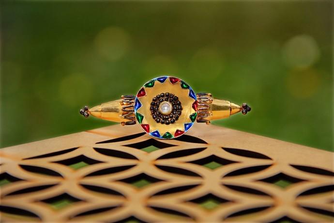 Born for 'Bold & Enamel'#KaleidoscopicHand# by Tanvi Garg, Art Jewellery, Contemporary, Traditional Ring